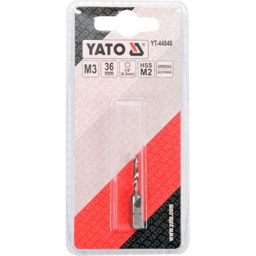Сверло - метчик М3 х 0,5мм YATO YT-44840