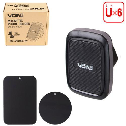 Держатель мобильного телефона VOIN UHV-4007BK/GY магнитный, без кронштейна (UHV-4007BK/GY)