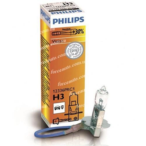 Автолампа Philips Vision H3 +30% (12336PR C1) 1.27e (12336PR C1)