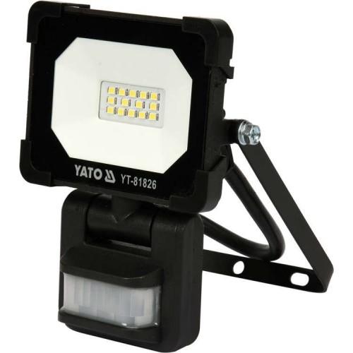 Светодиодный прожектор 10W 900LM с датчиком движения  YATOYT-81826