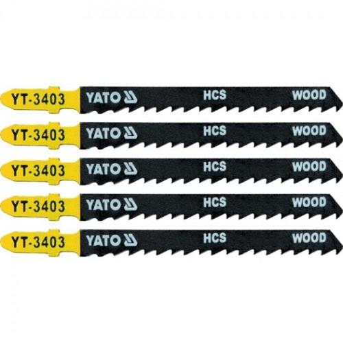 Полотна для электролоб.(дерево) 6TPI 5пр YATO YT-3403