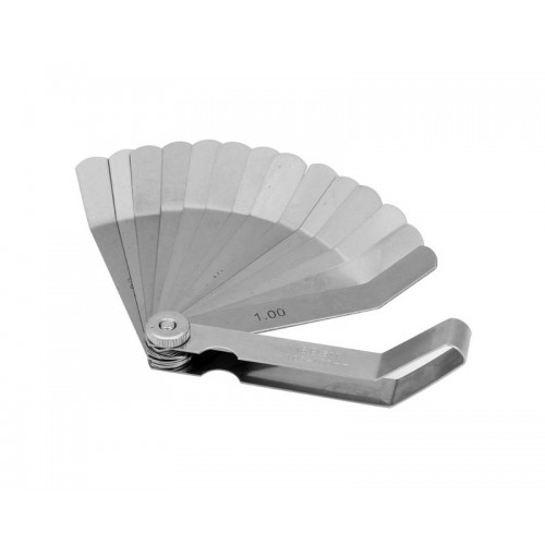 Щуп 16 изогнутых пластин 0.05-1.00 мм