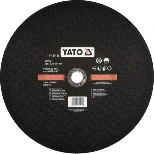Круг отрезной по металлу 355x3,2x25,4мм YATO YT-61132