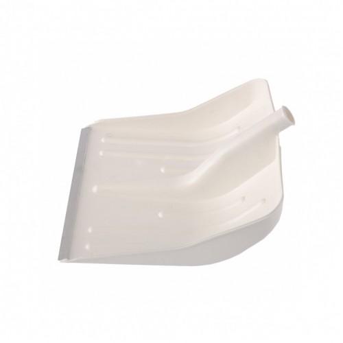 Лопата для уборки снега пластиковая, белая, 420 х 425 мм, без черенка, Сибртех 61615