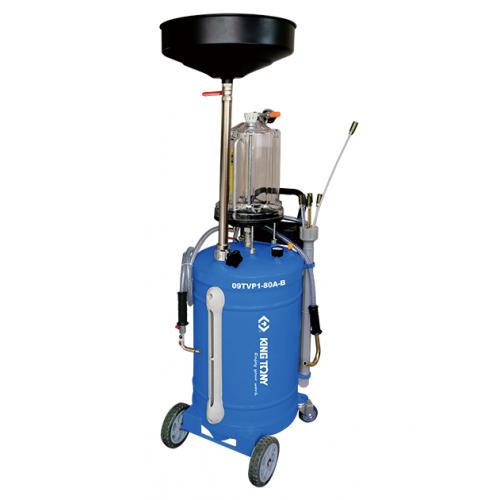 Установка для вакуумного отбора масла 80 литров бак с предкамерой KING TONY 9TVP1-80A-B