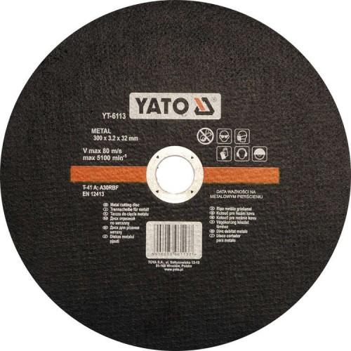 Круг отрезной по металлу 300х3,2х32 YATO YT-6113
