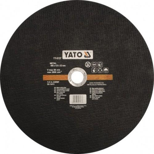 Круг отрезной по металлу 400х4,0х32мм YATO YT-6137