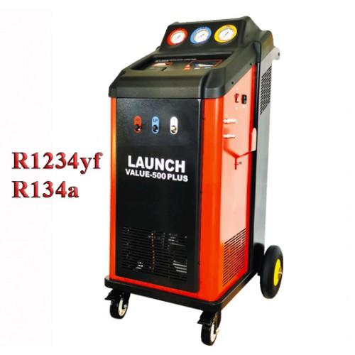Станция для обслуживания автомобильных кондиционеров автоматическая с фреонами  R134a или R1234yf VALUE-500PLUS LAUNCH