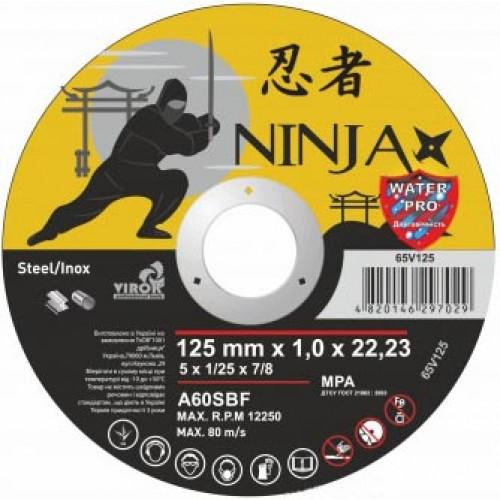 Круг отрезной по металлу, 125 х 1 х 22,3 мм Virok Ninja  (65V125)