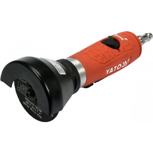 Отрезная пневмомашинка реверсивная 2000об/мин с кругом 75 мм YATO YT-09716