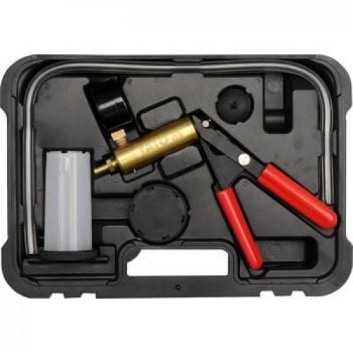 Ручной  вакуумный тестер с принадлежностями, 16 предметов,YT-0673  рабочий вакуум: -1 до  0 bar.