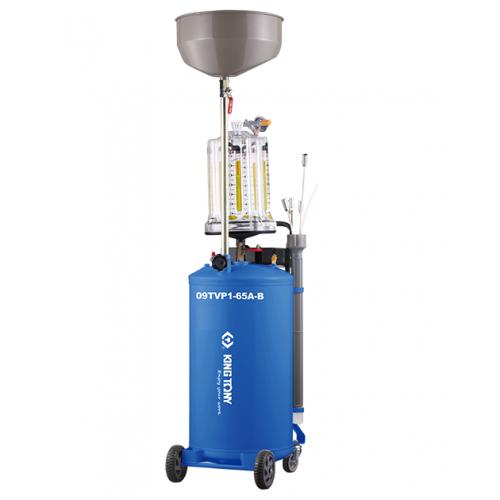 Установка для вакуумного отбора масла 65 литров бак с предкамерой KING TONY 9TVP1-65A-B