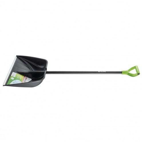 Лопата для уборки снега пластиковая Profi, 550 х 415 х 1405 мм, алюминиевый черенок, Palisad 61607