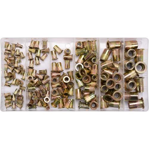 Набор резьбовых заклепок (нитогаек) стальных М3-М10 ,150шт Yato YT-36481