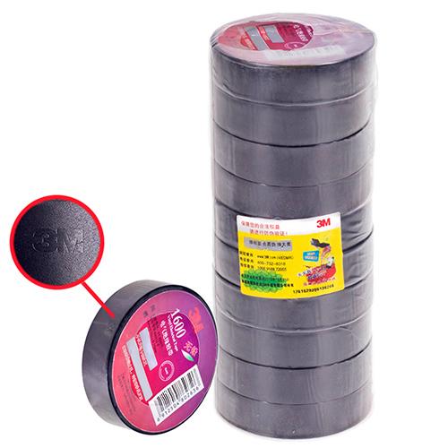 Изолента 3М черная (18мм*20м*0,15мм) 3М 1600 (Black)