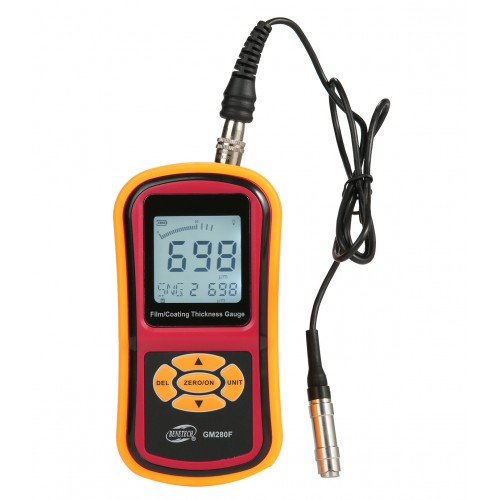 Толщиномер для ЛКП на магнитной поверхности Fe (0~1800 мкм) с выносным датчиком Benetech GM280F