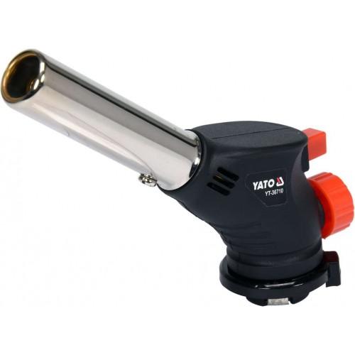 Газовая горелка 1000 ° C с пьезоподпалом керамическим соплом YATO YT-36710