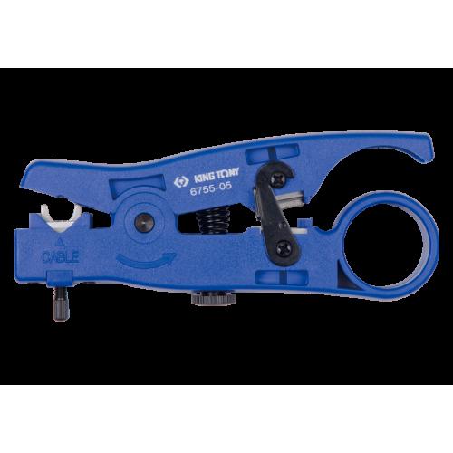 Стриппер для снятия изоляции и резки многожильного и плоского кабеля UTP, STP, RJ UNISON KING TONY 6755-05