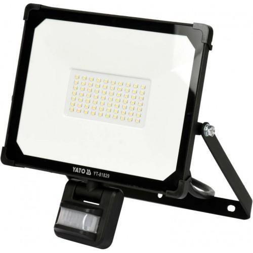 Светодиодный прожектор 50W 5000LM с датчиком движения  YATO YT-81829