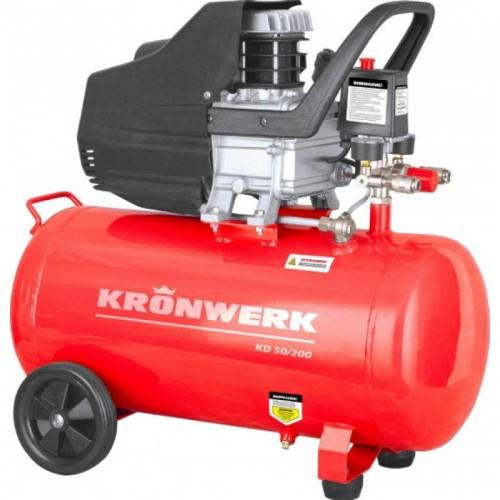 Компрессор  пневматический, 1,5 кВт, 198 л/мин, 24 л KRONWERK(58041)