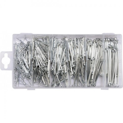 Набор шплинтов, 555 шт. материал изготовления: специальная сталь.