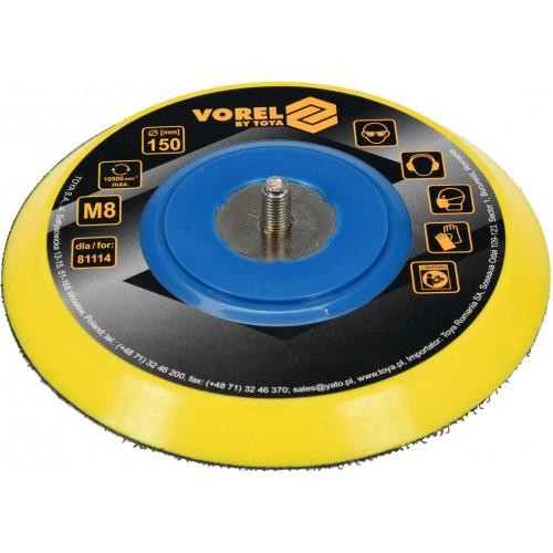 Круг полировальный Ø = 150мм M8 для пневмошлифмашинки 81115 VOREL