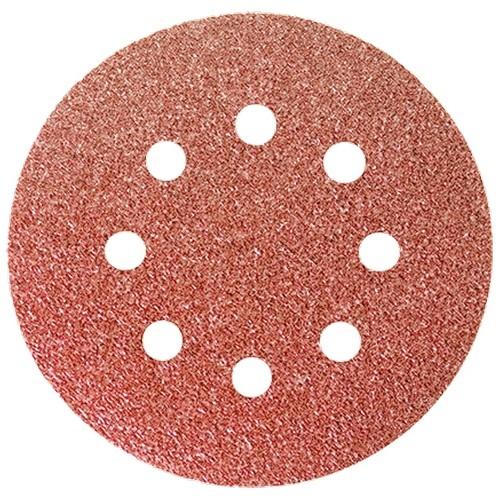 """Круг абразивный на ворсовой подложке под """"липучку"""", перфорированный, P 100, 125 мм, 5 шт 738059 Matrix"""