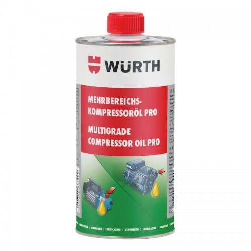 Масло компрессорное 1л. Wurth Pro KOMPROEL-MEHRBEREICH-PRO-1000ML Wurth