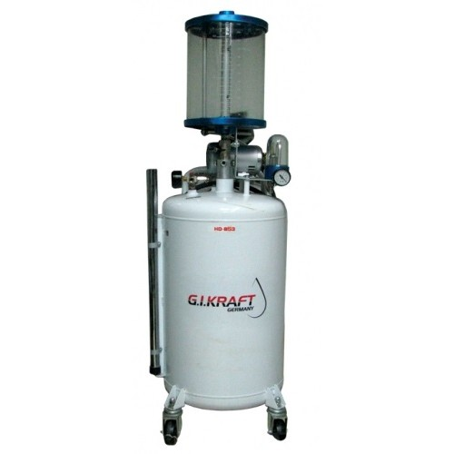 Установка для слива и откачки масла с пневмонасосом и мерной колбой (80л.) G.I. KRAFT HD-855