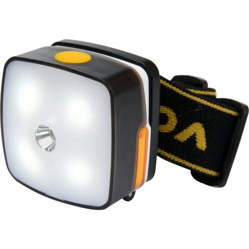 Налобный фонарь аккумуляторный 130+160 lm 3Вт VOREL 88677