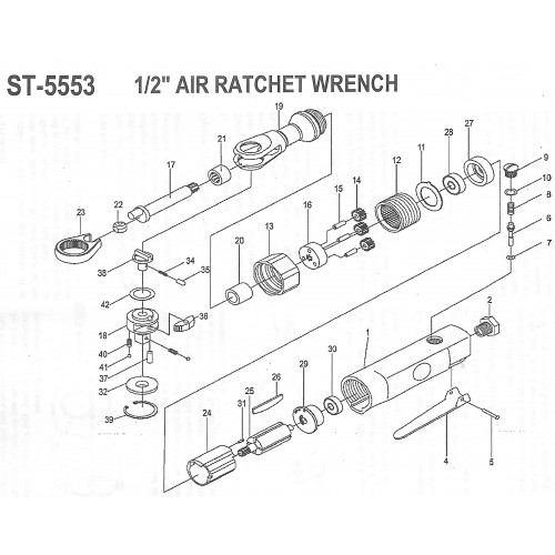 Храповой механизм для трещотки ST-5553