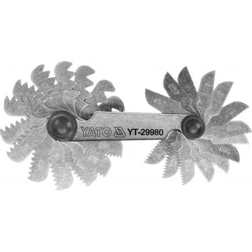 Набор резьбовых шаблонов 24 шт. для измерения метрической резьбы с шагом: 0,25-6,0 мм