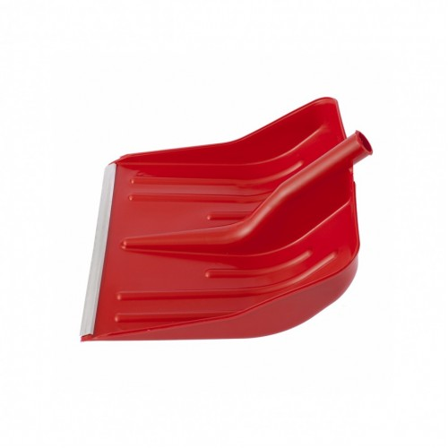 Лопата для уборки снега пластиковая, красная, 420 х 425 мм, без черенка, Сибртех 61617