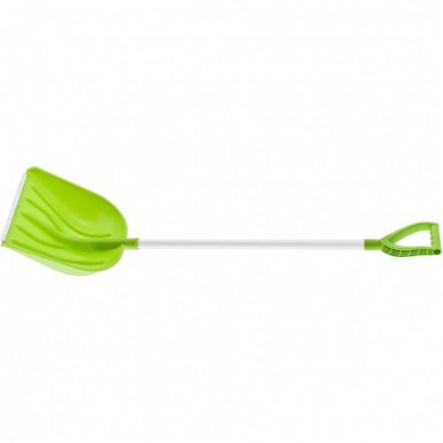 Лопата для уборки снега пластиковая Profi, 415 х 445 х 1500 мм, алюминиевый черенок, Сибртех 61492