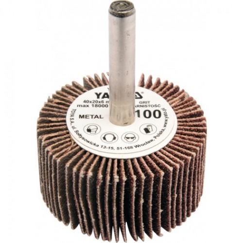 Круг лепестковый со шпинд. 40х20х6 Р100